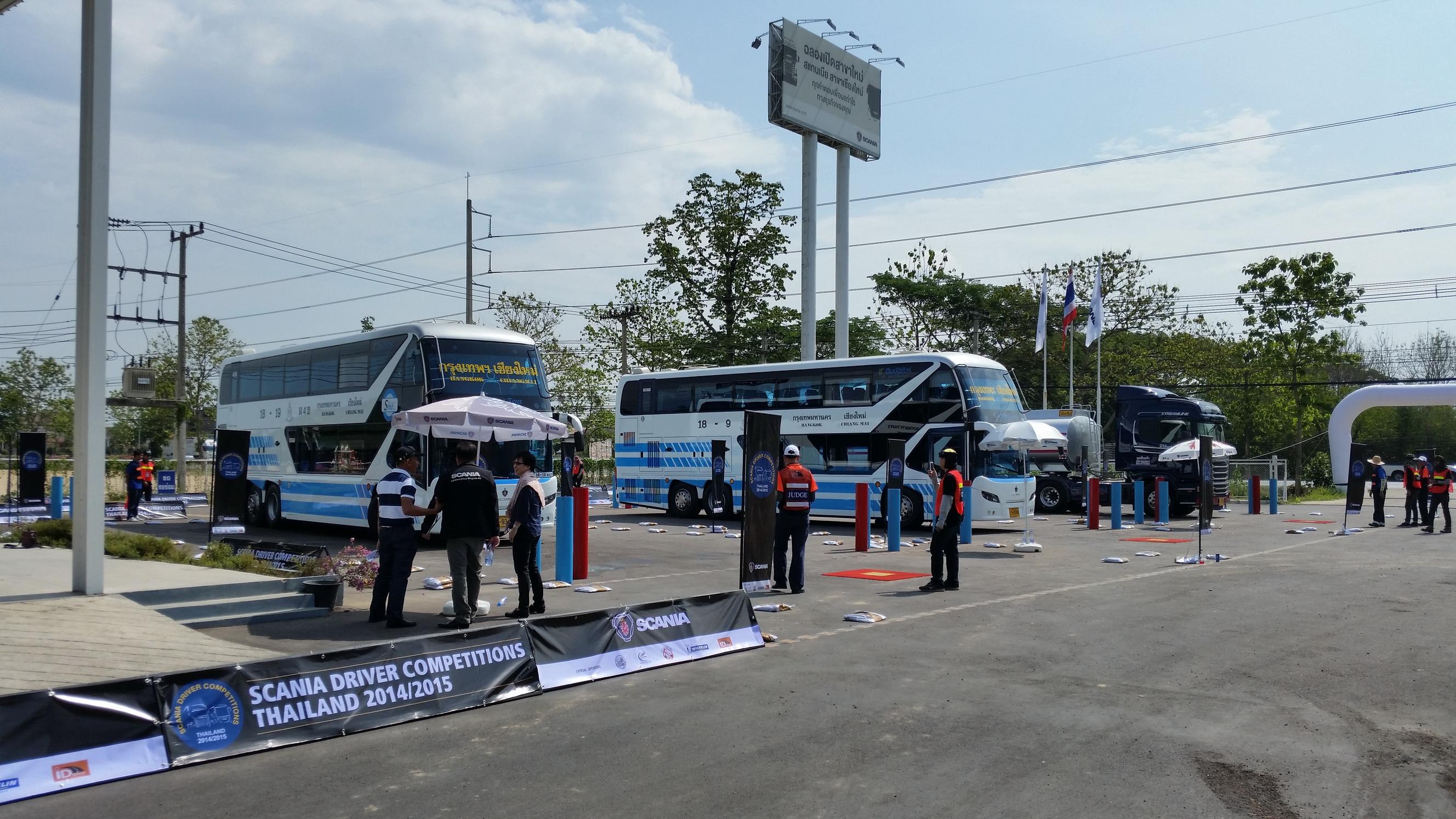 สมบัติทัวร์เข้าร่วมการแข่งขันทักษะการขับขี่รถโดยสาร รอบรองชนะเลิศ